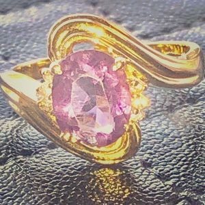 Jewelry - Genuine Amethyst and 14K Gold Ring